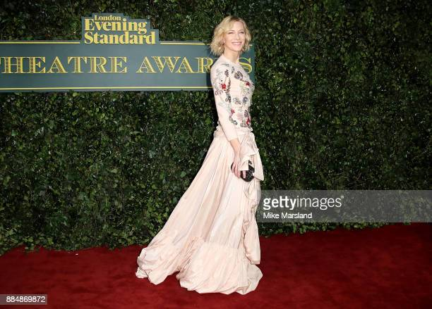 Cate Blanchett attends the London Evening Standard Theatre Awards at Theatre Royal on December 3 2017 in London England