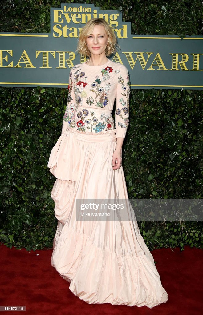 Cate Blanchett attends the London Evening Standard Theatre Awards at Theatre Royal on December 3, 2017 in London, England.
