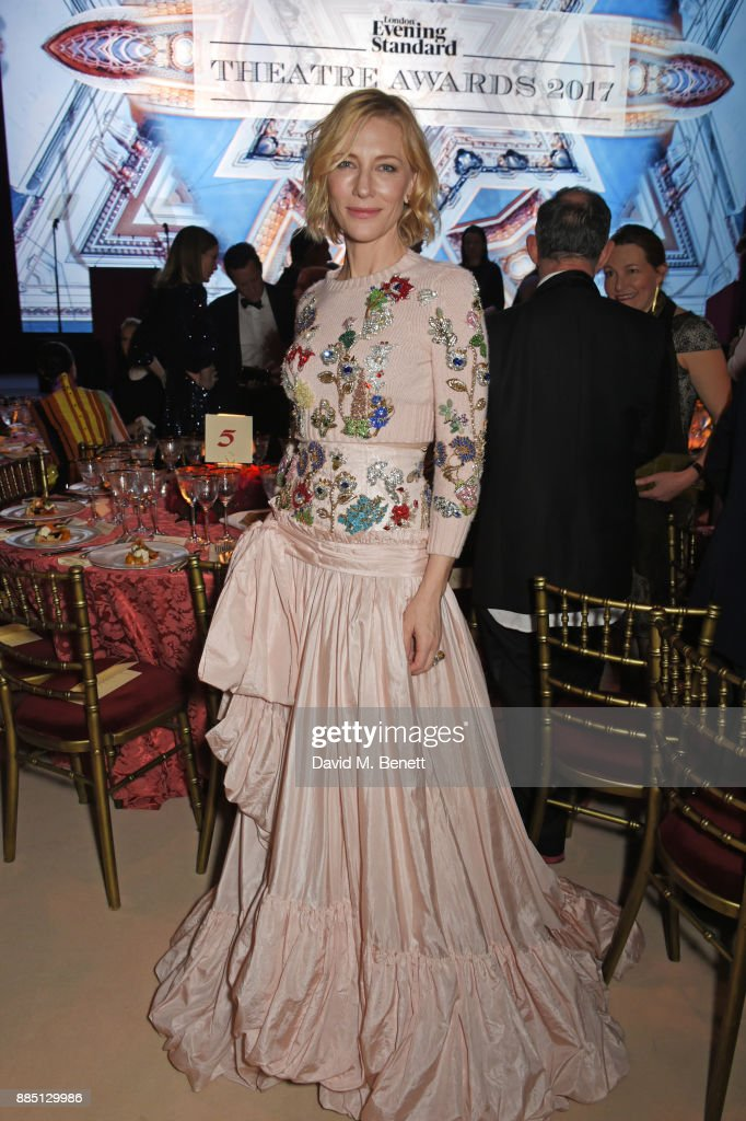 Cate Blanchett attends the London Evening Standard Theatre Awards 2017 at the Theatre Royal, Drury Lane, on December 3, 2017 in London, England.