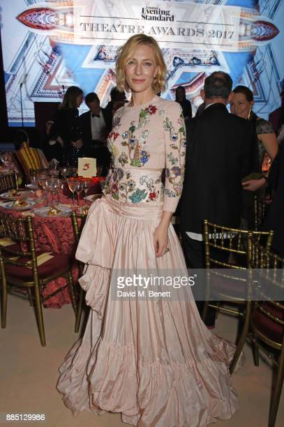 Cate Blanchett attends the London Evening Standard Theatre Awards 2017 at the Theatre Royal Drury Lane on December 3 2017 in London England