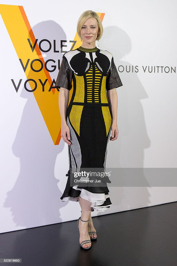 Cate Blanchett attends the Louis Vuitton Exhibition 'Volez, Voguez, Voyagez' on April 21, 2016 in Tokyo, Japan.