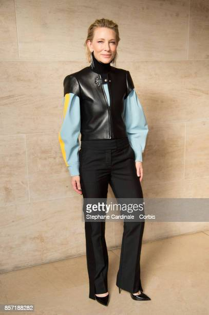 Cate Blanchett attends the Louis Vuitton show as part of the Paris Fashion Week Womenswear Spring/Summer 2018 at Musee du Louvre on October 3 2017 in...