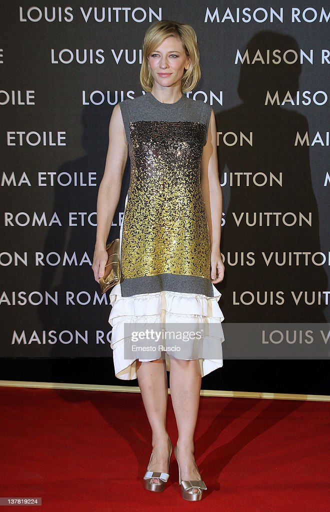 Cate Blanchett attends the 'Maison Louis Vuitton Roma Etoile' Opening Party at Ex Istituto Geologico on January 27, 2012 in Rome, Italy.