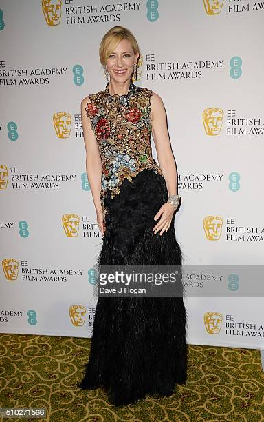 Cate Blanchett attends the official After Party Dinner for the EE British Academy Film Awards at The Grosvenor House Hotel on February 14 2016 in...