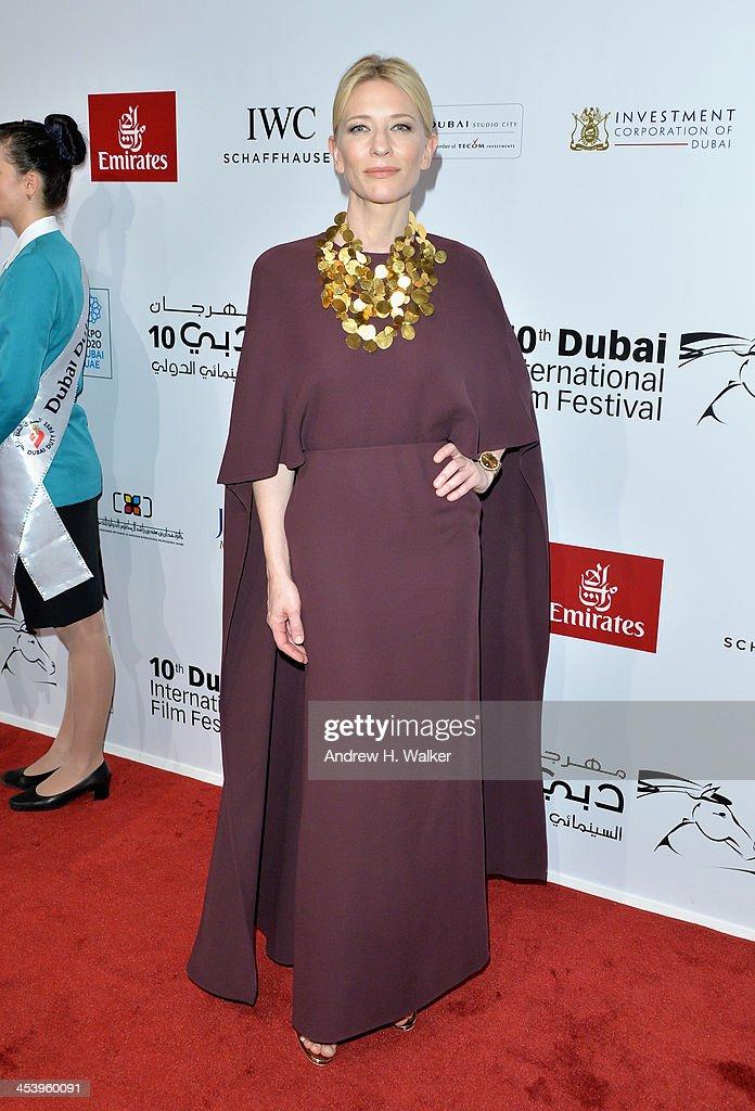 Cate Blanchett attends the Opening Night Gala of the 10th Annual Dubai International Film Festival held at the Madinat Jumeriah Complex on December 6, 2013 in Dubai, United Arab Emirates.