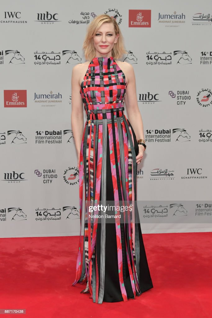 Cate Blanchett attends the Opening Night Gala of the 14th annual Dubai International Film Festival held at the Madinat Jumeriah Complex on December 6, 2017 in Dubai, United Arab Emirates.
