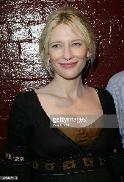 Cate Blanchett attends the opening night of Ngapartji Ngapartji at the Belvoir St Theatre during the 2008 Sydney Festival on January 11 2008 in...