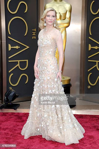Cate Blanchett attends the Oscars held at Hollywood Highland Center on March 2 2014 in Hollywood California