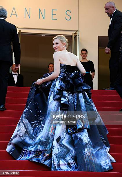 Cate Blanchett attends the Premiere of Carol during the 68th annual Cannes Film Festival on May 17 2015 in Cannes France