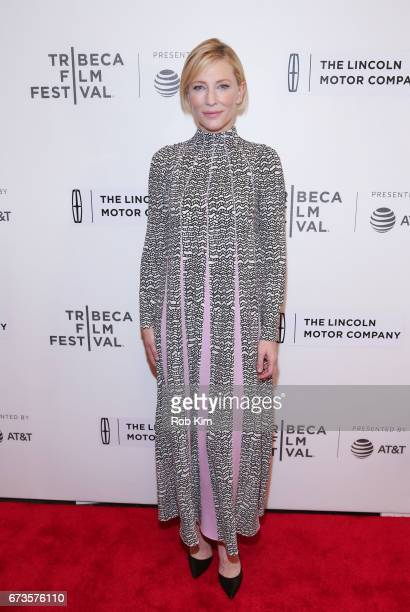Cate Blanchett attends the premiere of Manifesto during the 2017 Tribeca Film Festival at Spring Studios on April 26 2017 in New York City