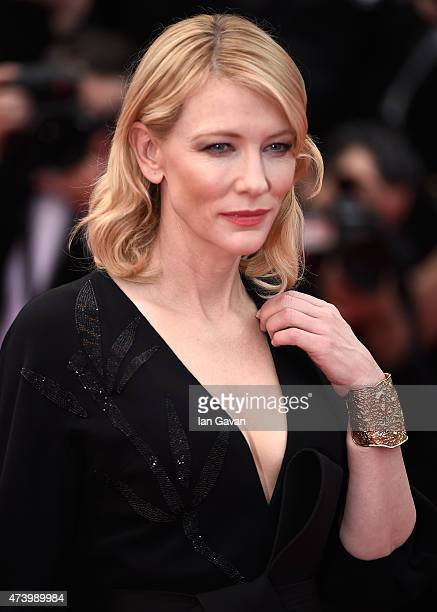 Cate Blanchett attends the Premiere of Sicario during the 68th annual Cannes Film Festival on May 19 2015 in Cannes France