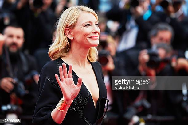 Cate Blanchett attends the Premiere of 'Sicario' during the 68th annual Cannes Film Festival on May 19 2015 in Cannes France