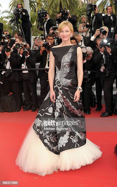 """Cate Blanchett attends the """"Robin Hood"""" Premiere at the Palais des Festivals during the 63rd Annual Cannes Film Festival on May 12, 2010 in Cannes,..."""
