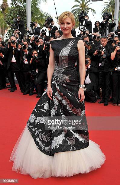 Cate Blanchett attends the 'Robin Hood' Premiere at the Palais des Festivals during the 63rd Annual Cannes Film Festival on May 12 2010 in Cannes...