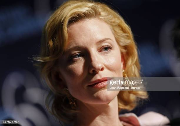 Cate Blanchett attends the 'Robin Hood' Press Conference at the Palais des Festivals during the 63rd Annual Cannes Film Festival on May 12 2010 in...