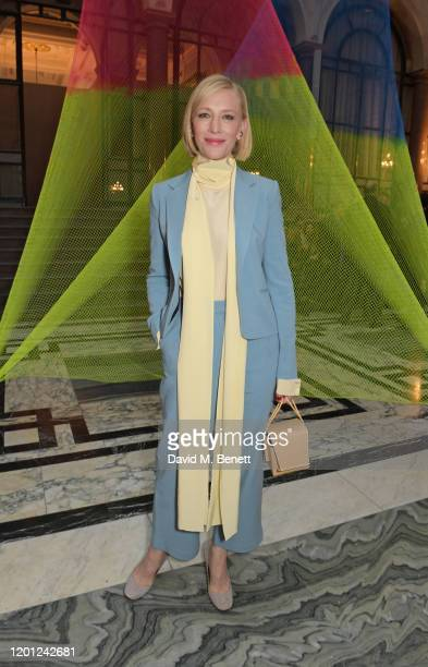 Cate Blanchett attends the Roksanda show during London Fashion Week February 2020 at The British Foreign and Commonwealth Office on February 16, 2020...