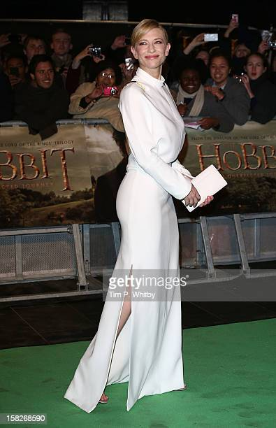 Cate Blanchett attends the Royal Film Performance of 'The Hobbit An Unexpected Journey' at Odeon Leicester Square on December 12 2012 in London...