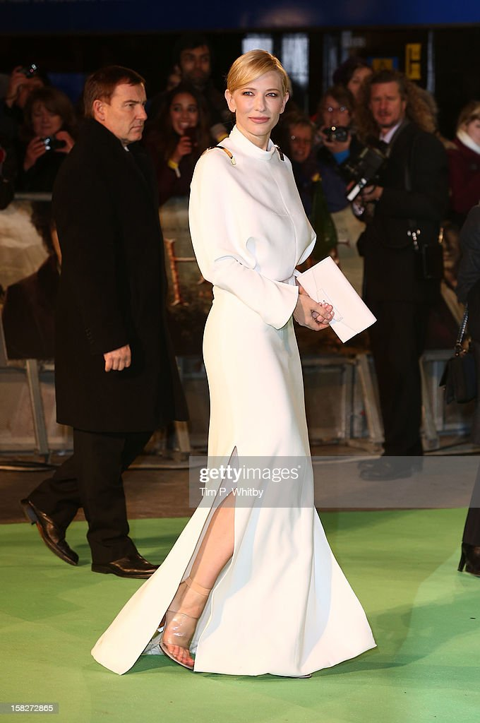 Cate Blanchett attends the Royal Film Performance of 'The Hobbit: An Unexpected Journey' at Odeon Leicester Square on December 12, 2012 in London, England.