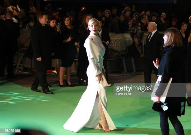 Cate Blanchett attends the Royal Film Performance of 'The Hobbit: An Unexpected Journey' at Odeon Leicester Square on December 12, 2012 in London,...