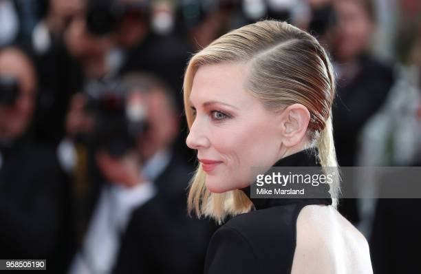 Cate Blanchett attends the screening of BlacKkKlansman during the 71st annual Cannes Film Festival at Palais des Festivals on May 14 2018 in Cannes...