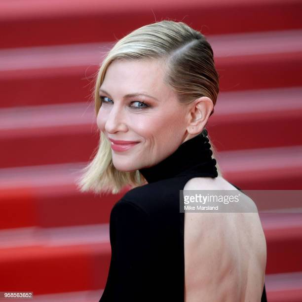 """Cate Blanchett attends the screening of """"BlacKkKlansman"""" during the 71st annual Cannes Film Festival at Palais des Festivals on May 14, 2018 in..."""