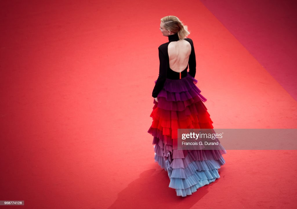 Cate Blanchett attends the screening of 'BlacKkKlansman' during the 71st annual Cannes Film Festival at Palais des Festivals on May 14, 2018 in Cannes, France.