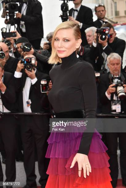 Cate Blanchett attends the screening of 'Blackkklansman' during the 71st annual Cannes Film Festival at Palais des Festivals on May 14, 2018 in...