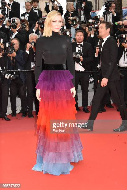 Cate Blanchett attends the screening of 'Blackkklansman' during the 71st annual Cannes Film Festival at Palais des Festivals on May 14 2018 in Cannes...