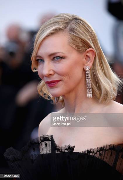 Cate Blanchett attends the screening of Capharnaum during the 71st annual Cannes Film Festival at Palais des Festivals on May 17 2018 in Cannes France