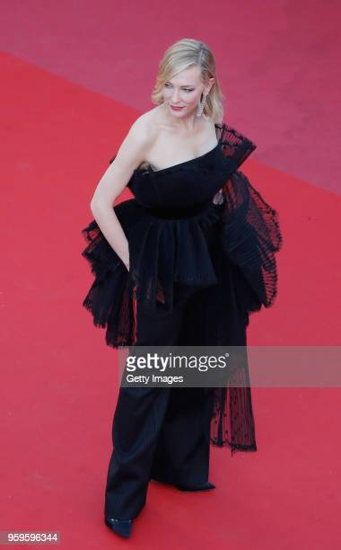 Cate Blanchett attends the screening of 'Capharnaum' during the 71st annual Cannes Film Festival at Palais des Festivals on May 17 2018 in Cannes...
