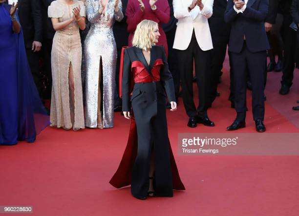 Cate Blanchett attends the screening of 'The Man Who Killed Don Quixote' and the Closing Ceremony during the 71st annual Cannes Film Festival at...