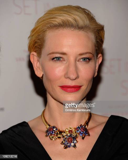 """Cate Blanchett attends the """"Set in Style: The Jewelry of Van Cleef & Arpels"""" opening gala at Cooper-Hewitt, National Design Museum on February 16,..."""