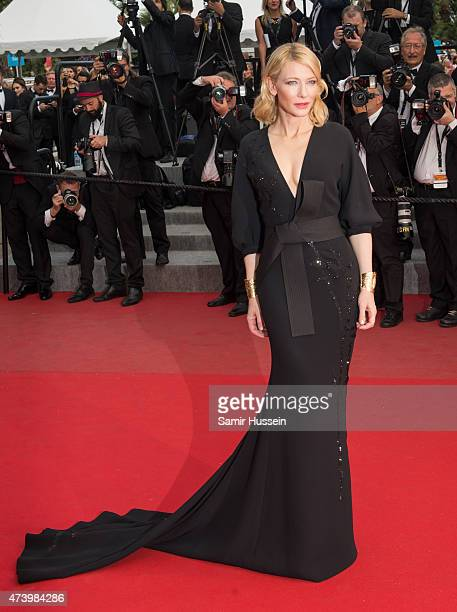 Cate Blanchett attends the 'Sicario' Premiere during the 68th annual Cannes Film Festival on May 19 2015 in Cannes France