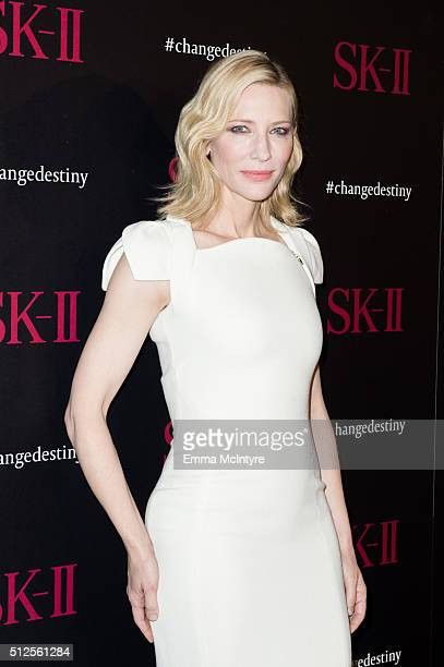Cate Blanchett attends the SKII #ChangeDestiny Forum at Andaz Hotel on February 26 2016 in Los Angeles California