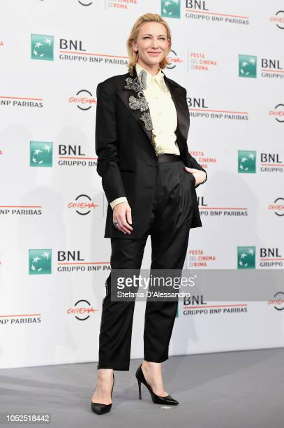 """Cate Blanchett attends the """"The House With A Clock In Its Walls"""" photocall during the 13th Rome Film Fest at Auditorium Parco Della Musica on October..."""