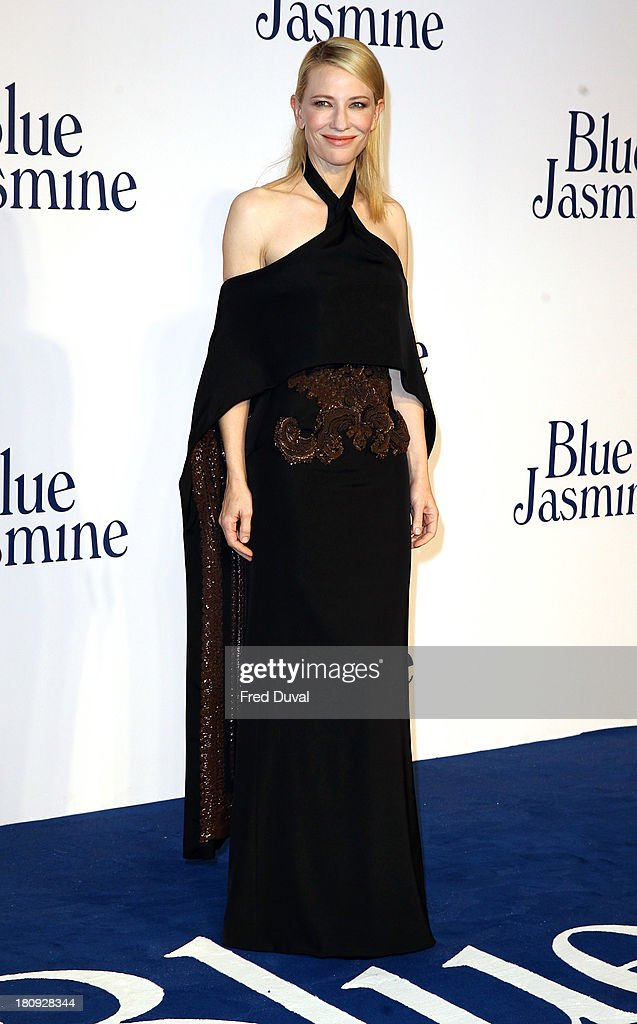 Cate Blanchett attends the UK premiere of 'Blue Jasmine' at Odeon West End on September 17, 2013 in London, England.