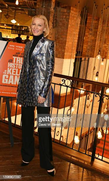 Cate Blanchett attends the UK Premiere of True History Of The Kelly Gang at the Picturehouse Central on February 17 2020 in London England
