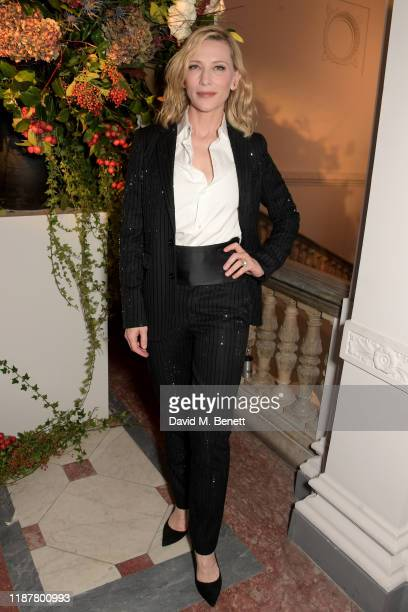 Cate Blanchett attends the UK Premiere of 'Very Ralph' at Royal Academy of Arts on November 14, 2019 in London, England.