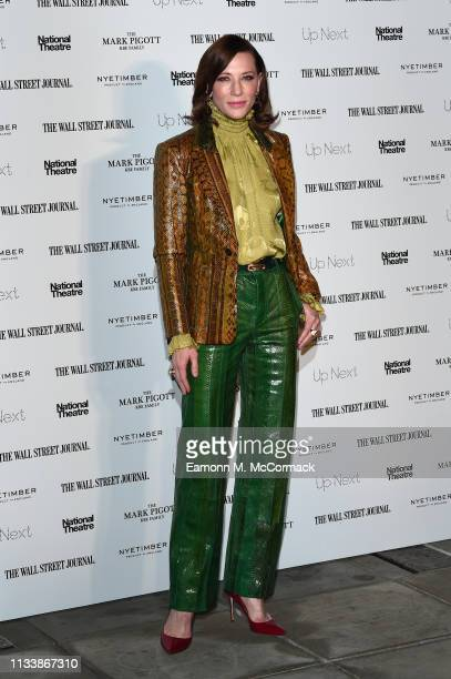 Cate Blanchett attends the 'Up Next Gala' at The National Theatre on March 05, 2019 in London, England.