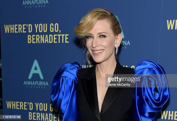 "Cate Blanchett attends the ""Where'd You Go, Bernadette"" New York Screening at Metrograph on August 12, 2019 in New York City."