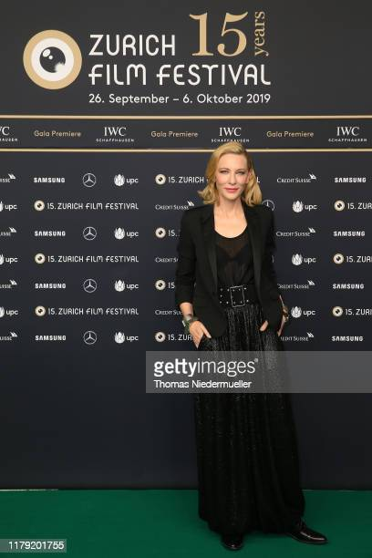 Cate Blanchett attends the Where'd You Go Bernadette premiere during the 15th Zurich Film Festival at Kino Corso on October 05 2019 in Zurich...