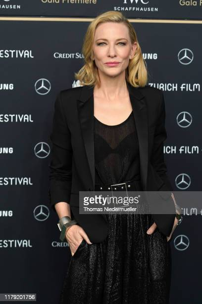 """Cate Blanchett attends the """"Where'd You Go, Bernadette"""" premiere during the 15th Zurich Film Festival at Kino Corso on October 05, 2019 in Zurich,..."""