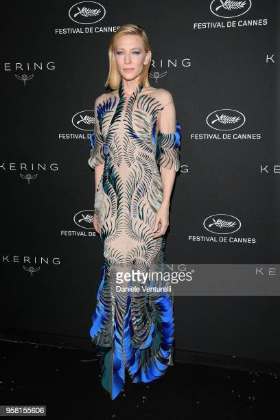 Cate Blanchett attends the Women in Motion Awards Dinner presented by Kering and the 71th Cannes Film Festival at Place de la Castre on May 13 2018...