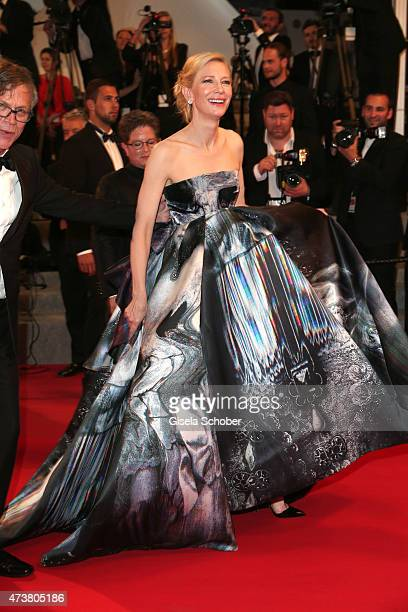 Cate Blanchett departs after the Premiere of Carol during the 68th annual Cannes Film Festival on May 17 2015 in Cannes France