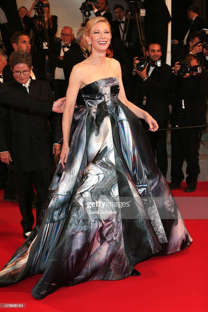 Cate Blanchett departs after the Premiere of 'Carol' during the 68th annual Cannes Film Festival on May 17, 2015 in Cannes, France.
