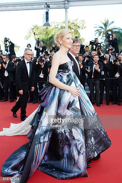 Cate Blanchett director Todd Haynes attend the Premiere of 'Carol' during the 68th annual Cannes Film Festival on May 17 2015 in Cannes France