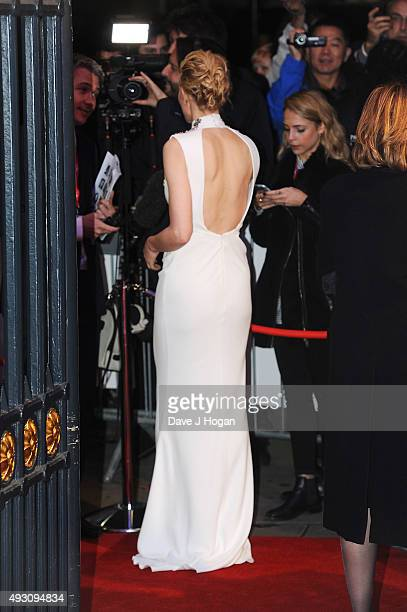 Cate Blanchett, dress detail, attends the BFI London Film Festival Awards at Banqueting House on October 17, 2015 in London, England.