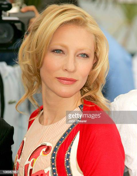 Cate Blanchett during 2006 Cannes Film Festival Babel Photocall at Palais des Festival Terrace in Cannes France