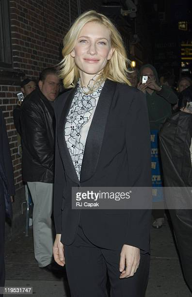 """Cate Blanchett during Cate Blanchett, Ben Stiller and Jay Thomas Visits the """"Late Show with David Letterman"""" - December 18, 2006 at Ed Sullivan..."""