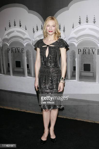 Cate Blanchett during Giorgio Armani Prive in L.A. - Arrivals at Green Acres in Los Angeles, California, United States.